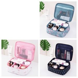 Handbags - Large Multi Section Zippered Cosmetic Travel Bag